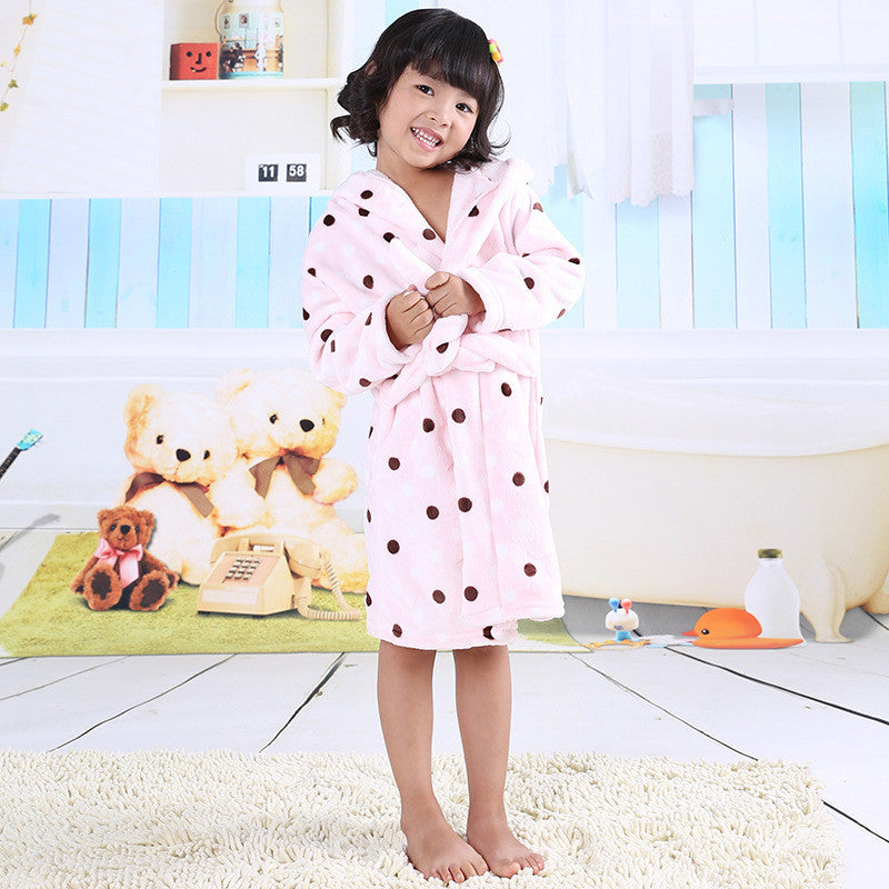 Girls Fleece Bathrobes
