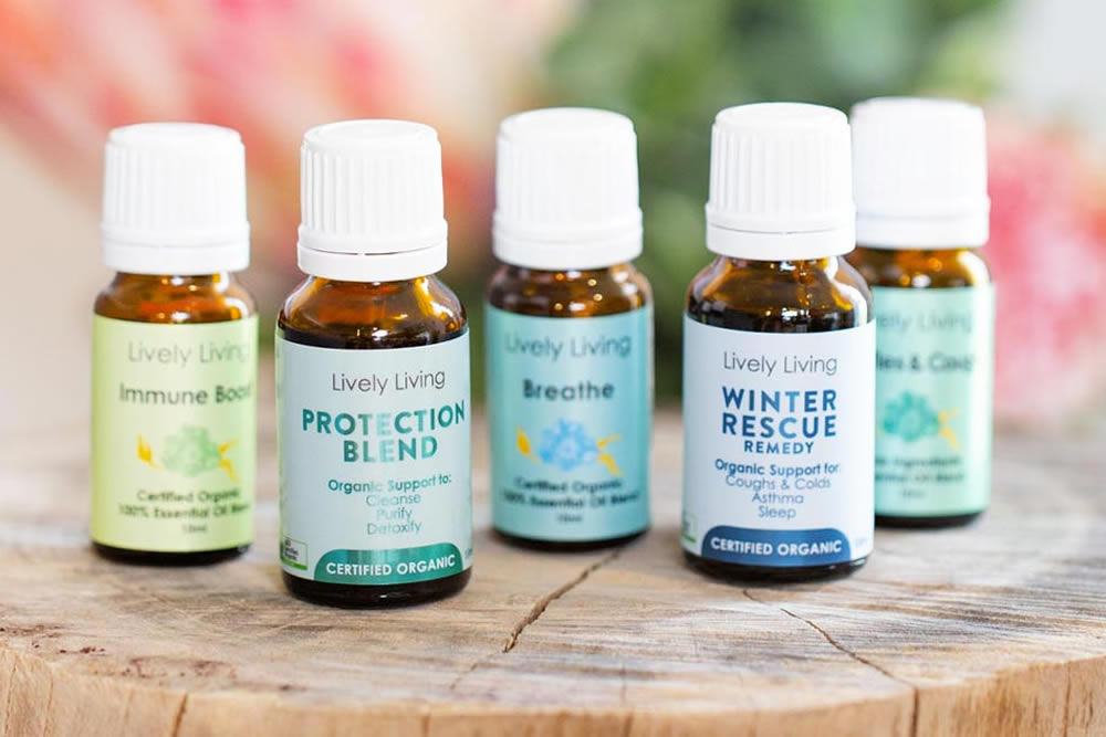 Lively Living certified organic pure essential oils
