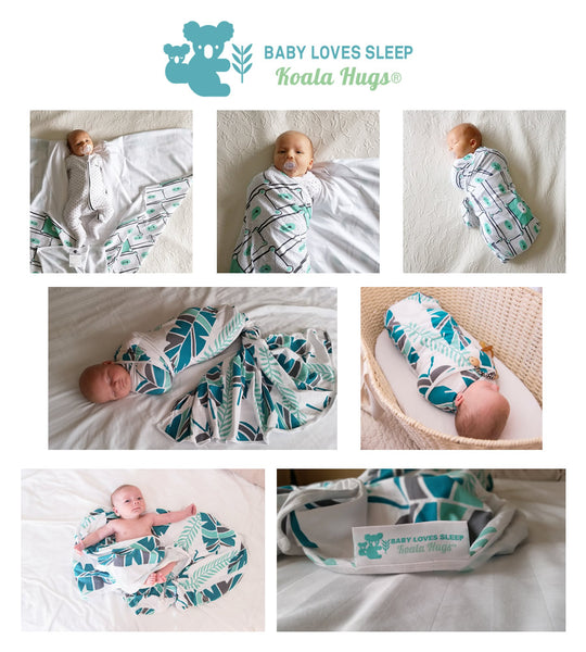 Baby Loves Sleep Koala Hugs swaddle wraps
