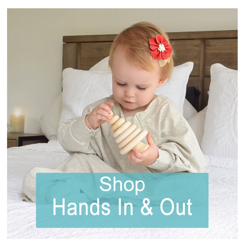clever fold-over cuffs allow your baby's hands to be snugly kept inside the sleep suit for warmth and security, or they can be folded back allowing your child to self soothe with their fingers and hands.