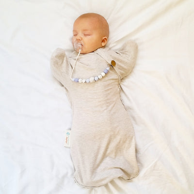 Sleepy Hugs Newborn - Light Grey Marle (All Year Round)
