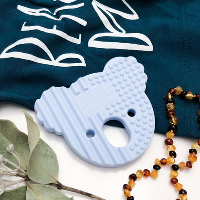 Blue Silicone Koala Teether