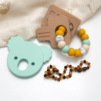 Mint Green Koala Silicone Teether