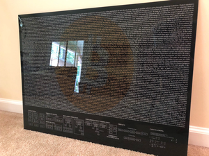 Bitcoin Satoshi Nakamoto Whitepaper Art Offered on Glass and Limited to 10