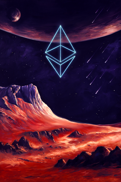 Ethereum Cosmic Limited Artwork Poster Print
