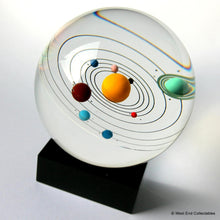 Load image into Gallery viewer, solar-system-inside-giant-80mm-325-glass-marble-9-planets