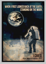 Load image into Gallery viewer, alan-shepard-moon-walk-space-poster
