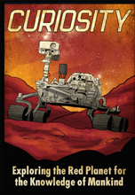 Load image into Gallery viewer, mars-curiosity-rover-poster