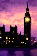 Load image into Gallery viewer, sku-london-london-travel-poster
