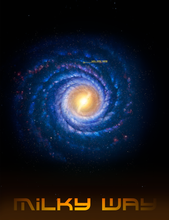 Load image into Gallery viewer, milky-way-you-are-here-poster-version-1