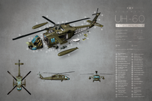 Load image into Gallery viewer, uh-60-helicopter-exploded-view-poster