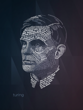 Load image into Gallery viewer, turing-typography-poster