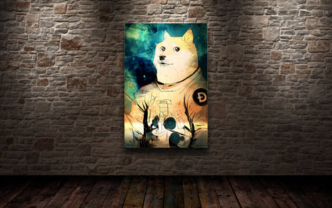 Doge Astronaut Art Print, Limited to 50