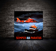 Load image into Gallery viewer, Coast Guard Rescue Memorable Art (Metal Panel Edition - Limited To 21)