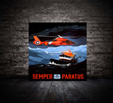 Coast Guard Rescue Memorable Art (Metal Panel Edition - Limited To 21)
