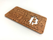 Load image into Gallery viewer, Bitcoin Red Cedar Wood Wallet, Unloaded