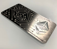 Load image into Gallery viewer, .1 ETH Silver Ethereum Metal Wallet, Unloaded
