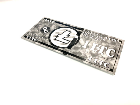 Litecoin 1 LTC Physical Litecoin Wallet