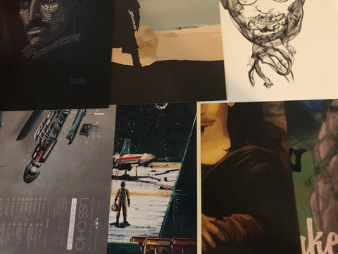Mystery Print Collection - Set of 4 11x17's