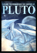 Load image into Gallery viewer, SKU: FUTUREPLUTO Pluto Poster, Explore the Ice Canyons of Pluto