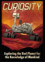 Load image into Gallery viewer, SKU: CURIOSITY Mars Curiosity Rover Poster