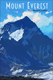 SKU: EVEREST Mount Everest Minimalist Wonders Poster