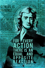 Load image into Gallery viewer, SKU: NEWTON Isaac Newton Science Quotes Poster
