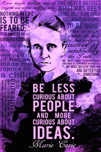 Load image into Gallery viewer, SKU: CURIEPURPLE Marie Curie Science Quotes Poster