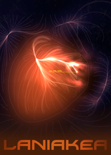 Load image into Gallery viewer, SKU: LANIAKEARED Laniakea You Are Here Space Poster (red)