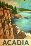 SKU: ACADIA Rock Climb Acadia National Park Travel Poster