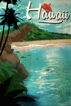 Load image into Gallery viewer, SKU: HAWAII Hawaii Travel Poster