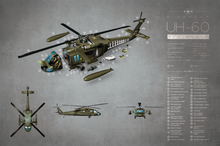 Load image into Gallery viewer, SKU: UH60  UH-60 Helicopter Exploded View Poster