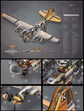 SKU: B17DETAILED B-17 Exploded View DETAIL Poster