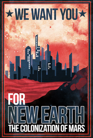 Colonize Mars Metallic Print, Limited to 10