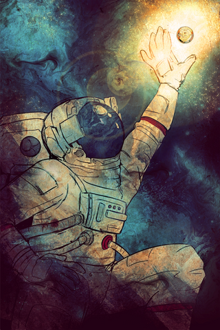 The Bitcoin Casascius Astronaut Metallic Print, Limited to 10
