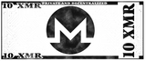 Monero 10 XMR Physical Monero Wallet