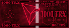 Load image into Gallery viewer, Tron 1000 TRX Physical Tron Wallet