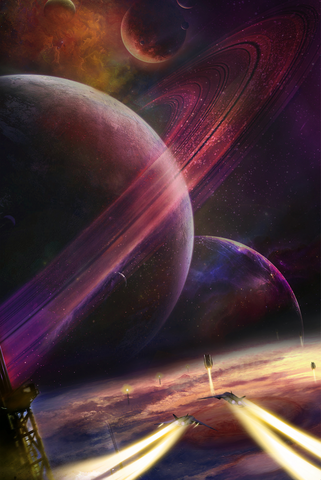 Distant Future Space Art, Jupiter