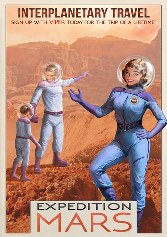SKU: MARSEXPEDITION Expedition Mars Space Poster