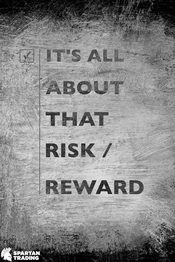 All About Risk Stock Market Art Poster