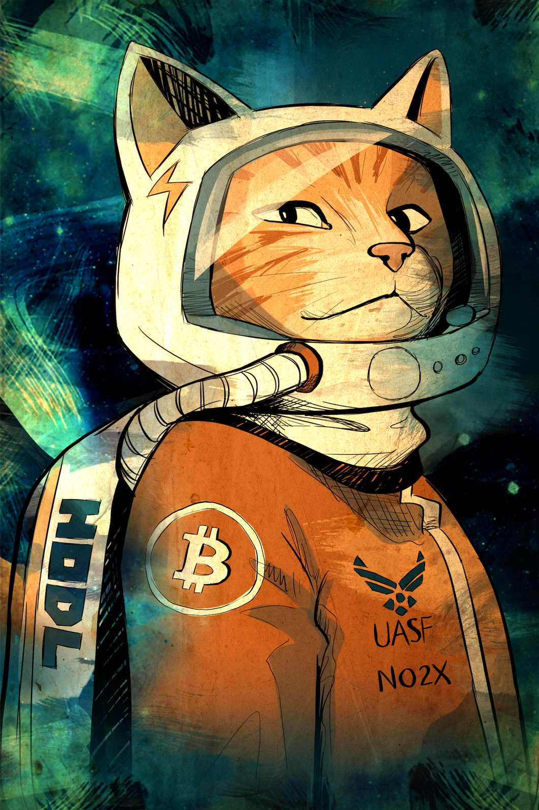 Hodlonaut Artwork, 100% Proceeds Donated, Limited to 21