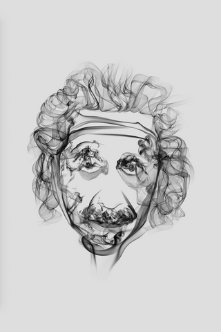 Albert Einstein Smoke Art