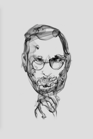 Steve Jobs Smoke Art