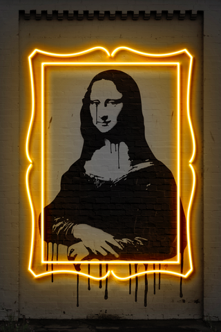 Mona Lisa Neon Art