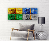 Bitcoin The United Global Currency Collage Art Canvas, Limited to 5