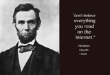 "Abraham Lincoln Internet 4""x3"" Gloss Sticker"