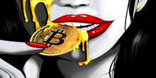 "Load image into Gallery viewer, Bitcoin ""Lips"" (NEW RELEASE - Limited to 18)"