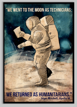 Load image into Gallery viewer, SKU: EDGAR Edgar Mitchell Astronaut Space Quote Poster