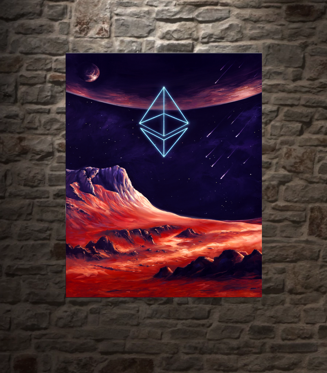 Ethereum Cosmic Conception METAL PANEL, 16