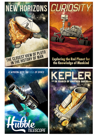 Space Expedition Series, Set of 4